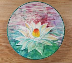 Silver Spring Lotus Flower Plate