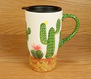 Silver Spring Cactus Travel Mug