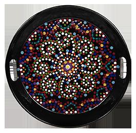 Silver Spring Mosaic Mandala Tray