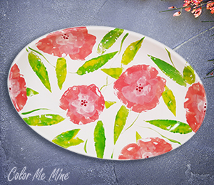 Silver Spring Floral Paper Stamping