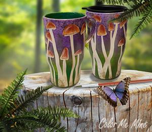 Silver Spring Mushroom Mugs